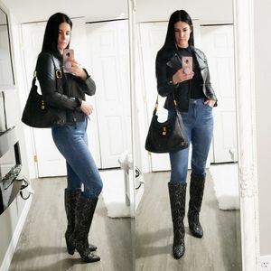 Marc Jacobs * Pebbled Leather Padlock Hobo